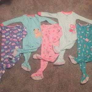 Carter's One Pieces - Bundle of five new one piece pajamas 24 months